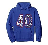 40 Year Old Birthday Baseball Shirts Hoodie Royal Blue