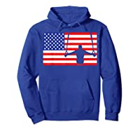 Gymnastics Rings Usa American Flag Gymnast 4th Of July T-shirt Hoodie Royal Blue