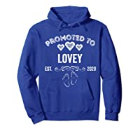 Promoted To Lovey Est 2020 Shirt Gift For Mom T-shirt Hoodie Royal Blue