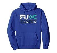 Fuck Cancer Awareness Green Ribbon Ovarian Cancer Shirts Hoodie Royal Blue
