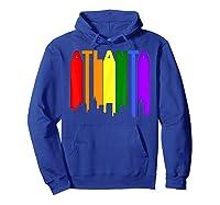 Atlanta Georgia Lgbtq Gay Pride Rainbow Skyline T-shirt Hoodie Royal Blue