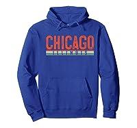 Chicago Illinois Premium T-shirt Hoodie Royal Blue
