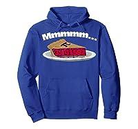 Mmm Pi (pie) Funny Pi Math Pun Pie Lovers T-shirt Hoodie Royal Blue