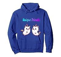 Caticorn Friends Unicorn Cat Rainbow Shirts Hoodie Royal Blue