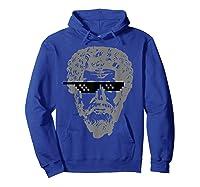 Marcus Aurelius Sunglasses T-shirt Funny Stoic Hoodie Royal Blue