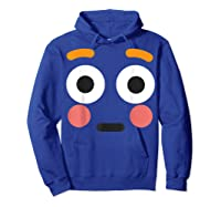 Flushed Face Emoji Easy Lazy Group Halloween Costume Shirts Hoodie Royal Blue