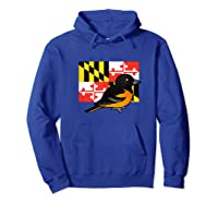 State Birdorable Of Maryland Cute Baltimore Oriole Shirts Hoodie Royal Blue