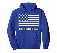 Correctional Officer Shirt Thin Gray Line T-shirt Gift Hoodie Royal Blue