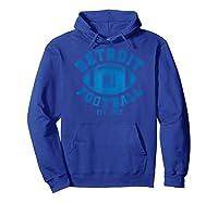Detroit Football Vintage Michigan Retro Lion Gift Shirts Hoodie Royal Blue