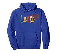 Lolli Love Heart Tshirt Hoodie Royal Blue