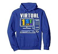 Remote Teaching Online Learning Virtual Tea Premium T-shirt Hoodie Royal Blue