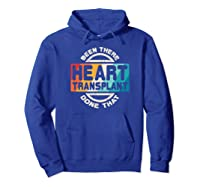 Heart Transplant Organ Recipient Survivor Gift Shirts Hoodie Royal Blue