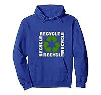 Green Eco Friendly Recycle Symbol Environtalist T Shirt Hoodie Royal Blue