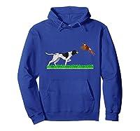 Bird Hunting English Pointer Dog Graphic Gift For Hunter Shirts Hoodie Royal Blue