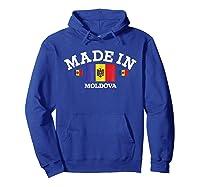 Made In Moldova Flag Shirts Hoodie Royal Blue