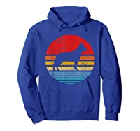Cattle Dog Retro Sunset Distressed Mom Dad Dog Lover Gift Shirts Hoodie Royal Blue