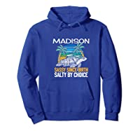 Personalized Madison Design Sassy & Salty Quote Beach Lover Premium T-shirt Hoodie Royal Blue