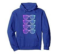 Pink Blue Blended Shades Summer Novelty Shirts Hoodie Royal Blue
