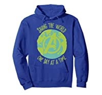 Earth Day Saving The World One Day At A Time Shirts Hoodie Royal Blue