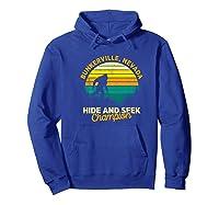 Retro Bunkerville, Nevada Big Foot Souvenir Shirts Hoodie Royal Blue