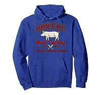 Bareback Meat Packing Est. 1969 Gay Humor Kink T Shirt Hoodie Royal Blue