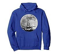 Kraken Sea Monster Sinking Ship Full Moon Shirts Hoodie Royal Blue