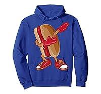 Dabbing Hot Dog Shirt   Cool American Hot Dog Sandwich Gift Hoodie Royal Blue