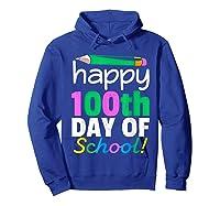 100th Day Of School Grade Tea Shirts Hoodie Royal Blue
