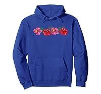 Hawaiian Hibiscus Flowers Aloha Vacation Shirts Hoodie Royal Blue