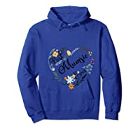 Best Mumsie Ever Heart Flower Blessed Grandma Mother's Day T-shirt Hoodie Royal Blue
