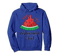 Watermelon Shirt - Cute Fun Of Summer Watermelon T-shirt Hoodie Royal Blue