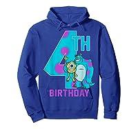 Pixar Monsters Inc Mike Sully Happy 4th Birthday Shirts Hoodie Royal Blue