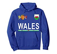 Wales Cheer 2017 Football Welsh Shirts Hoodie Royal Blue