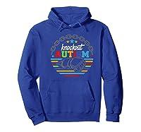 Knockout Autism Awareness Warrior T-shirt Hoodie Royal Blue