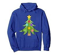 Christmas Tree Emoji Shirts Hoodie Royal Blue