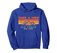 New York Vintage Take A Hike Old Forge Moutain T-shirt Hoodie Royal Blue