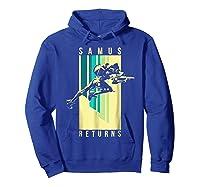 Nintendo Metroid Samus Returns Spotlight Graphic T-shirt Hoodie Royal Blue