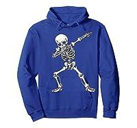 Dabbing Skeleton Halloween Costume Gift T-shirt Hoodie Royal Blue