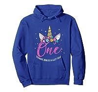 1 Year Old Birthday Girl Gifts Unicorn 1st Birthday Shirts Hoodie Royal Blue