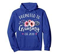 Promoted To Grammy Est 2019 Baby Announce Shirts Hoodie Royal Blue
