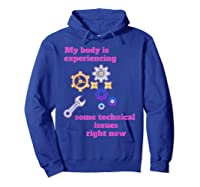 Fibromyalgia Gift Chronic Illness Shirts Hoodie Royal Blue