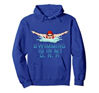 Swimming Cap Goggles Swim Love Funny Swimmer Girl Dna Shirts Hoodie Royal Blue