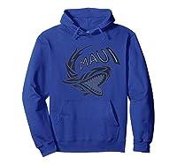 Maui Hawaii Shark Shirts Hoodie Royal Blue