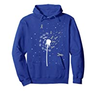 Dandelion Grey Ribbon For Brain Cancer Awareness Gifts T-shirt Hoodie Royal Blue
