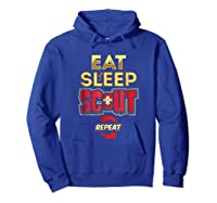 Eat Sleep Scout Repeat Funny Scouting Gift Shirts Hoodie Royal Blue