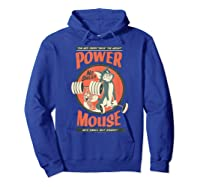 Tom And Jerry Power Mouse T-shirt Hoodie Royal Blue
