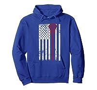 Lacrosse American Flag Patriotic Athletic Sport Shirts Hoodie Royal Blue