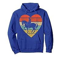Dressage Vintage Design Retro Horseback Riding Heart Sport Shirts Hoodie Royal Blue