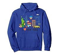 Love New York City Ny Tourist Souvenir Gift Shirts Hoodie Royal Blue