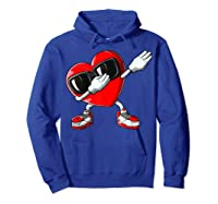 Dabbing Heart Valentines Day Love Dab Dance Gifts T-shirt Hoodie Royal Blue